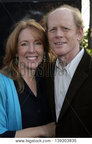 Ron Howard and wife Cheryl Howard at the Los Angeles premiere of 'Cinderella Man' held at the Gibson Amphitheatre at Universal City in Hollywood, USA on May 23, 2005.