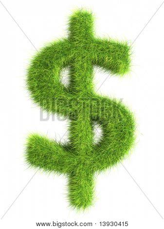 Grass dollar sign