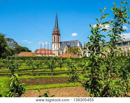 St Elizabeth Church In Darmstadt Hdr