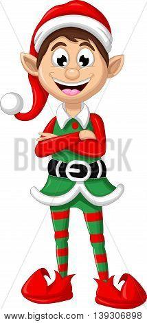 cute Christmas elf posing for you design