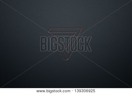 luxury metallic wall. metal background and texture. modern design for name card. 3d illustration.