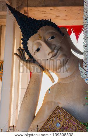 Huge Reclining Buddha. Hatyai. Thailand.