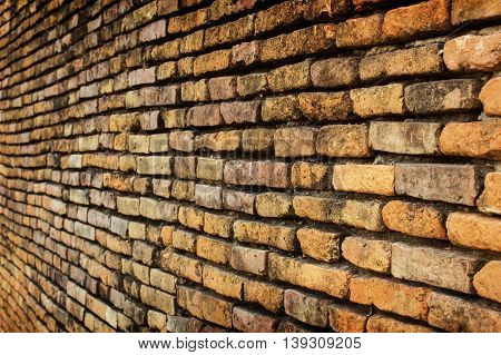 Background of old vintage brick wall for texture