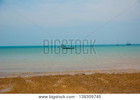 Beautiful Sea. Peninsula Of Railay. Krabi, Thailand.