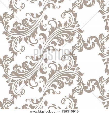 Vector Vintage Spring floral damask pattern element background. Luxury Classic Damask ornament royal Victorian texture for textile fabric. ornament
