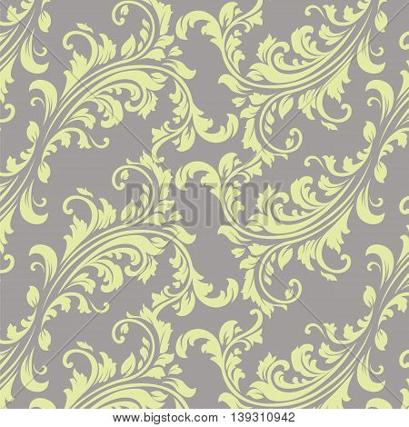 Vector Vintage Spring floral damask pattern element background. Luxury Classic Damask ornament royal texture for textile fabric. Spring ornament