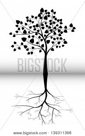 beauty tree silhouette cartoo for you design
