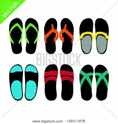 Slippers vector on a white color background