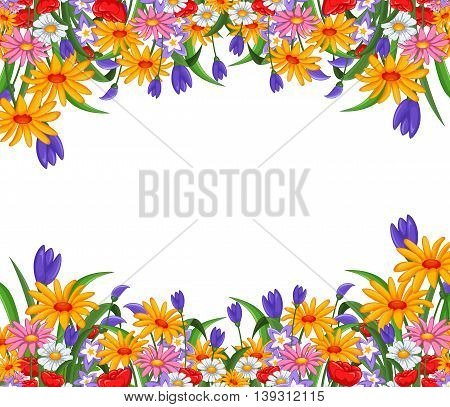 beauty colorful of  flowers for you design