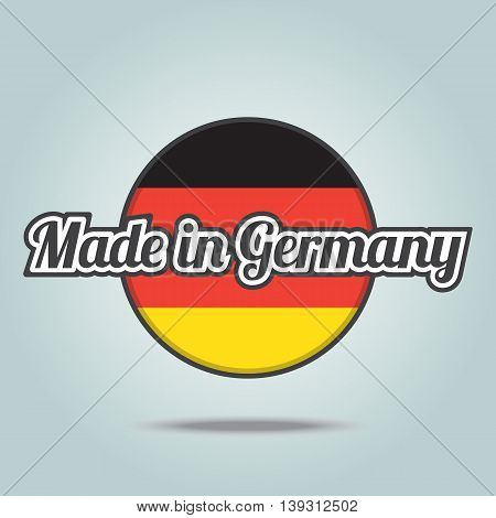 Made in Germany badge. Vector illustration stamp.