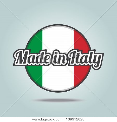 Made in Italy badge. Vector illustration stamp.