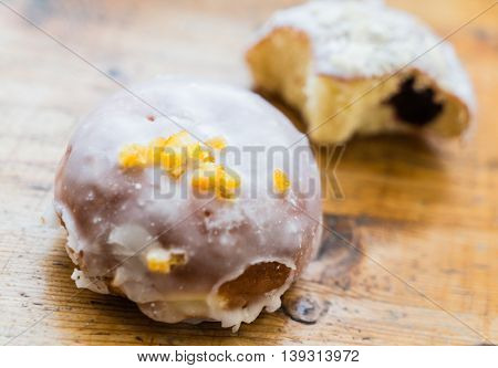 donut with jam