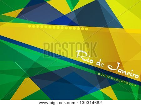 Abstract concept geometric Brazil background. Vector 2016 graphic design