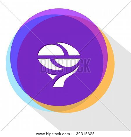 unique abstract forms. Internet template. Vector icon.