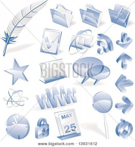 Vector glass icon set