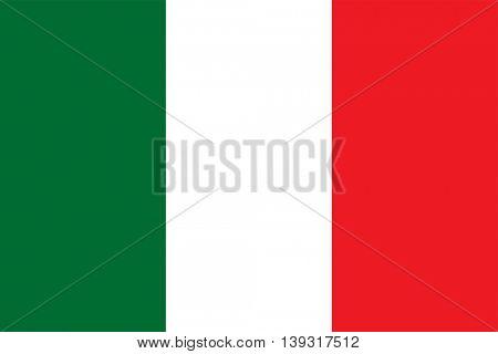 Vector Italian Republic flag