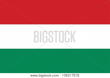 Vector national Hungary flag