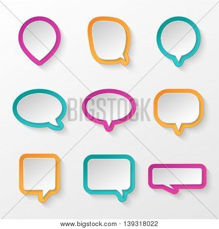 Bubbles for speech creative collection. Vector illustration.
