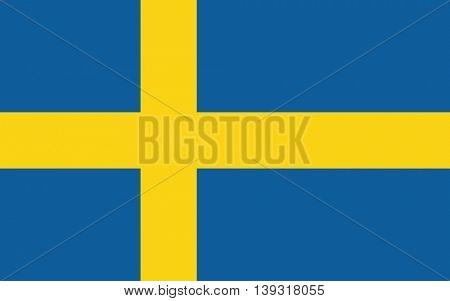 Vector Kingdom of Sweden flag