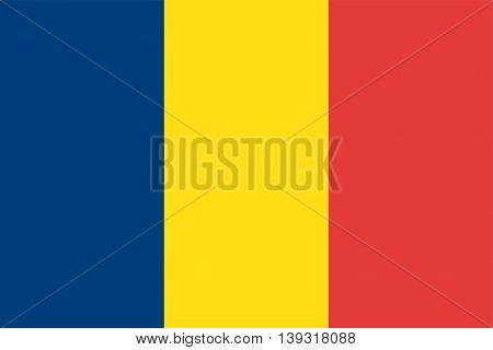Vector Republic of Chad flag