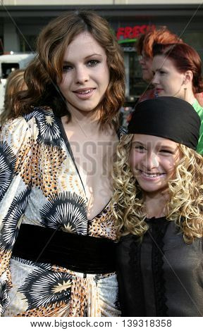 Amber Tamblyn and Jenna Boyd at the Los Angeles premiere of 'Sisterhood of the Traveling Pants' heldat the Grauman's Chinese Theatre in Hollywood, USA on May 31, 2005.