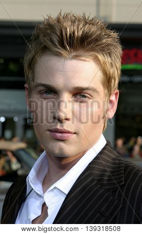 Mike Vogel at the Los Angeles premiere of 'Sisterhood of the Traveling Pants' heldat the Grauman's Chinese Theatre in Hollywood, USA on May 31, 2005.