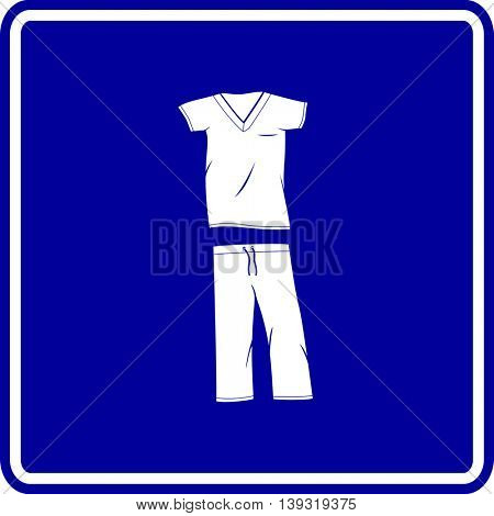 scrubs medical clothing sign