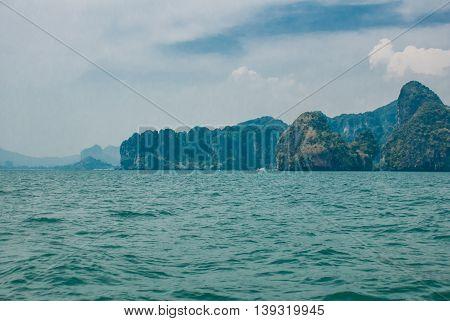 Beautiful Island And Rocks. Krabi, Thailand.