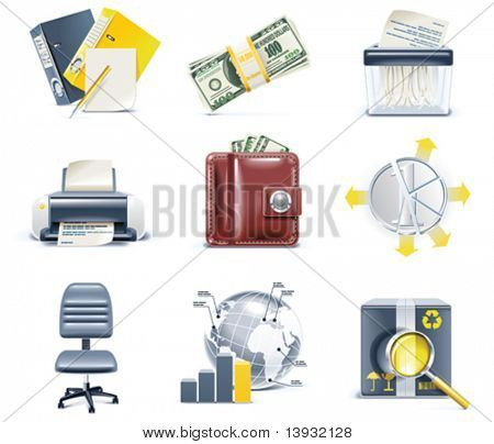 Vector business and office icons. Part 4