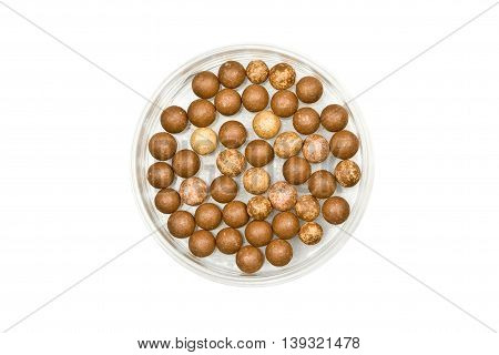 Face Powder balls isolated on white background