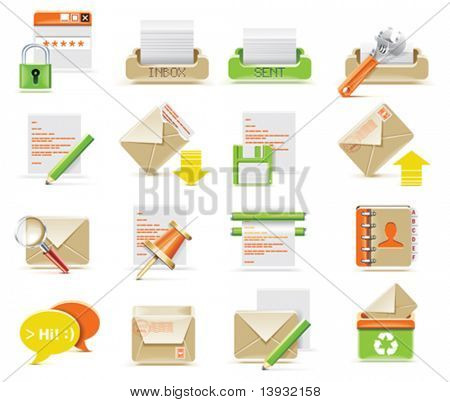 Vector E-mail Icon set
