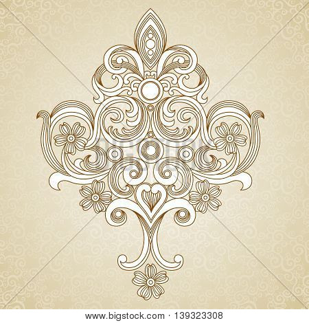 Vintage ornate pattern with place for your text. Light Victorian background. It can be used for decorating of wedding invitations greeting cards decoration for bags and clothes.