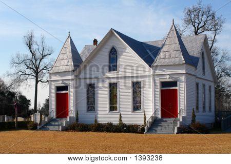 Beautiful White Church