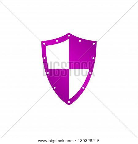 Vector protection icon, isolated eps 10 illustration