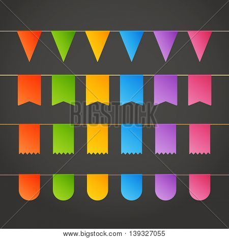 Different color flags. Design template