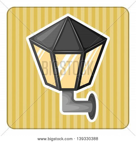 Street light colorful icon in cartoon style