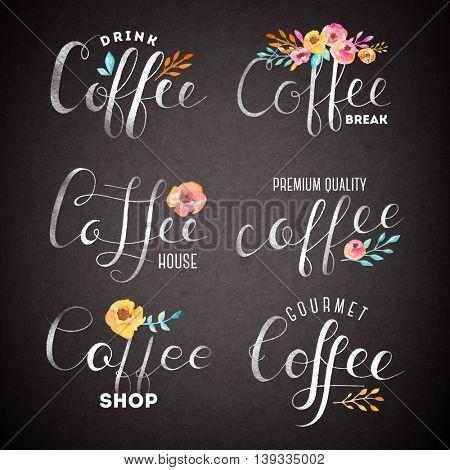 Set of Vector Coffee Elements