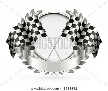 Silver Racing Emblem, vector