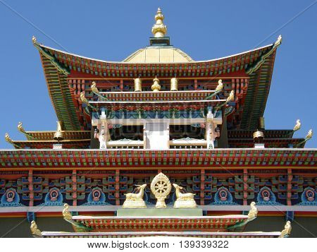 One of the temples in the Ivolga Datsan - the center of Buddhism in Russia. The Republic of Buryatia
