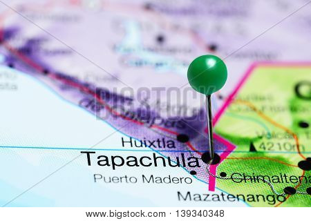 Tapachula pinned on a map of Mexico