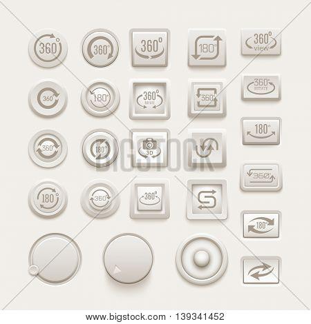 Rotate buttons vector set.