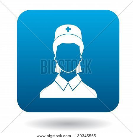 Nurse icon in simple style on a white background