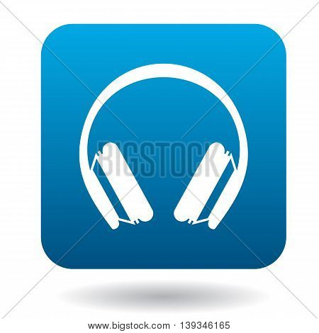 Protective headphones icon in simple style on a white background