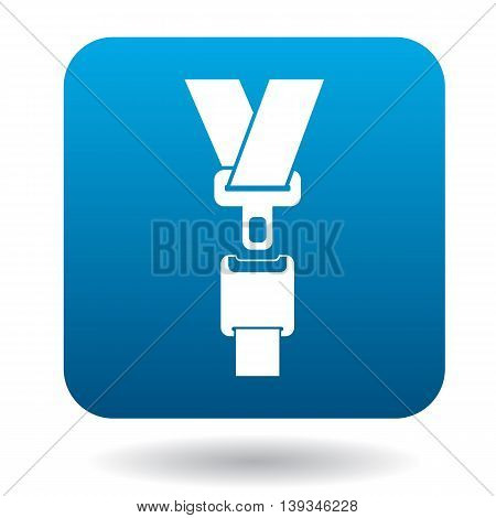 Seat belt icon in simple style on a white background