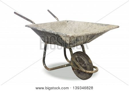 The  Wheelbarrow  for industry construction on background