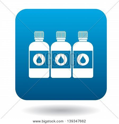Printer ink bottles icon in cartoon style on a white background