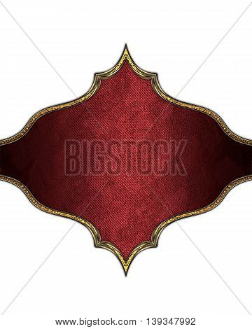 Beautiful Plate Isolated On White Background. Template For Design. Copy Space For Ad Brochure Or Ann