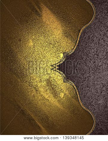 Metal Texture With A Pattern And A Brown Edge. Template For Design. Copy Space For Ad Brochure Or An