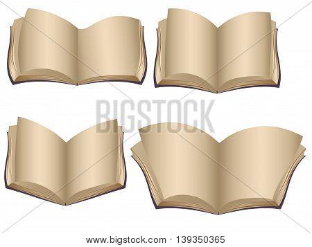 Vintage Opened Books