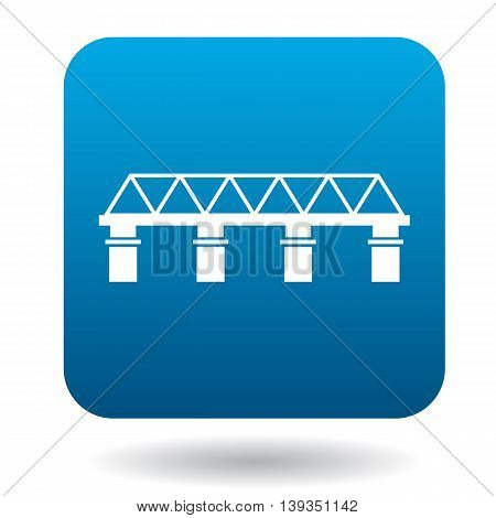 Bridge icon in simple style on a white background